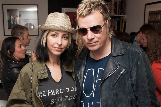 Liam Howlett and his wife, Natalie. Picture: Simon Burchell/Getty Images