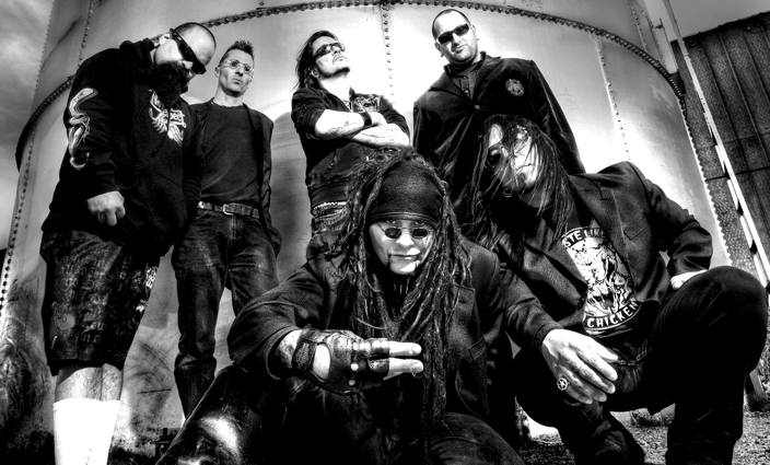 Ministry in front of a silo, or something like it.