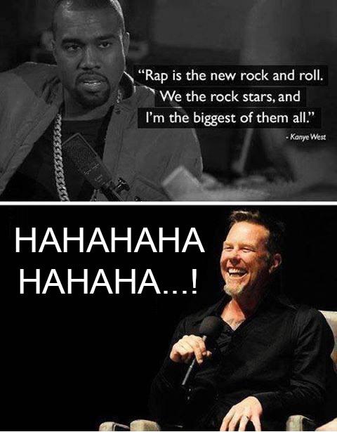 James Hetfield mocking a mentally ill person.