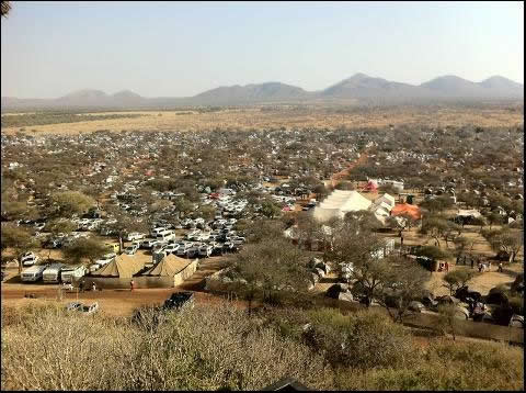 Part of the Oppikoppi Campsite