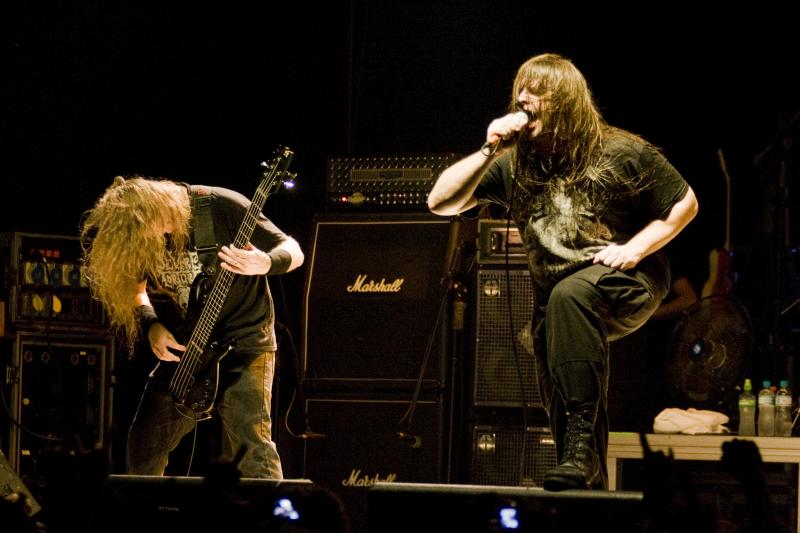 Alex Webster and George Fisher of Cannibal Corpse