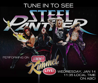 Steel Panther on Jimmy Kimmel Banner